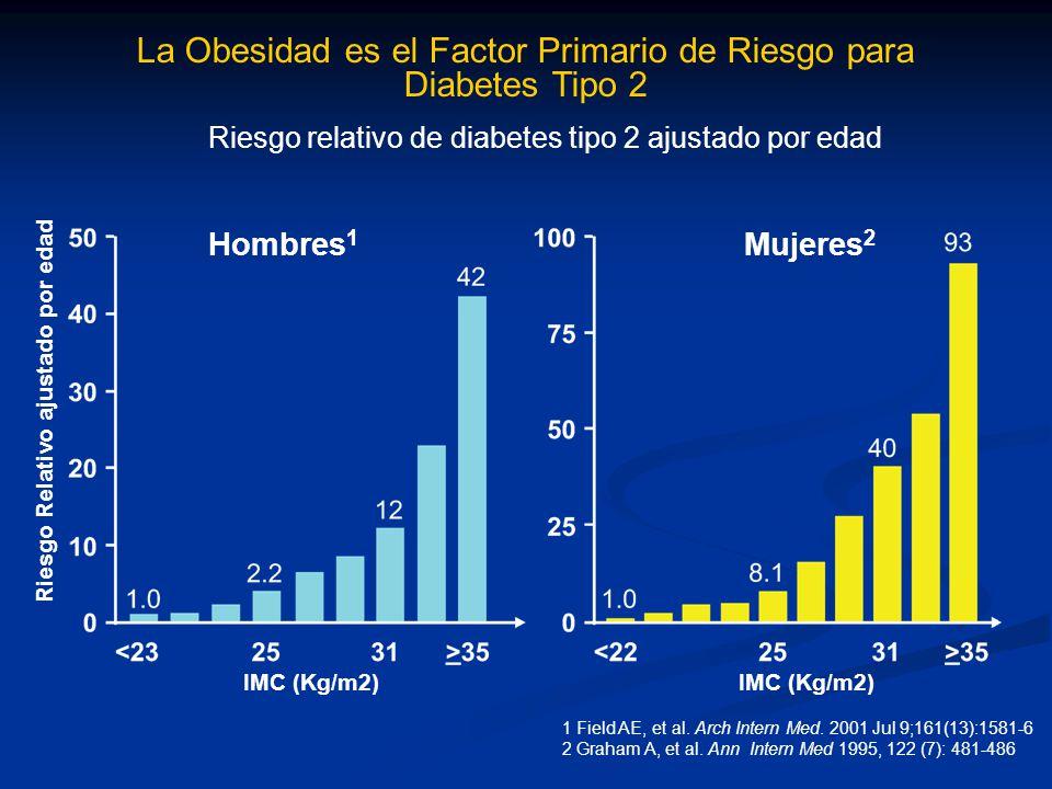 La Obesidad es el Factor Primario de Riesgo para Diabetes Tipo 2