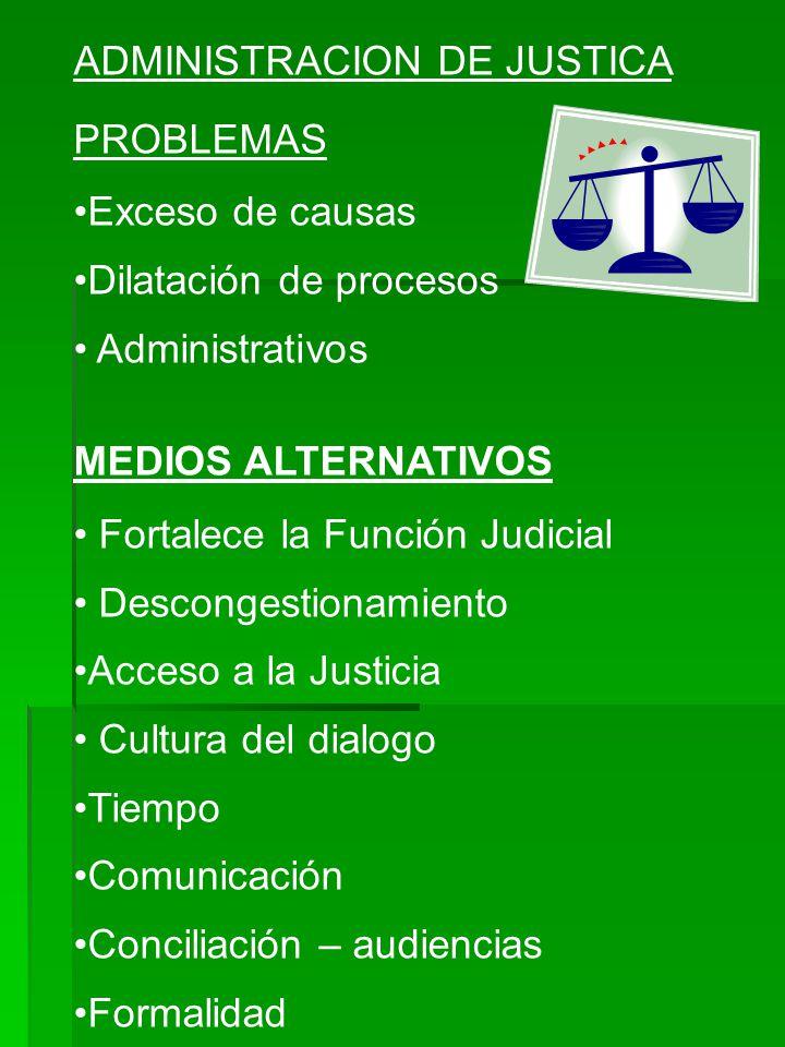 ADMINISTRACION DE JUSTICA