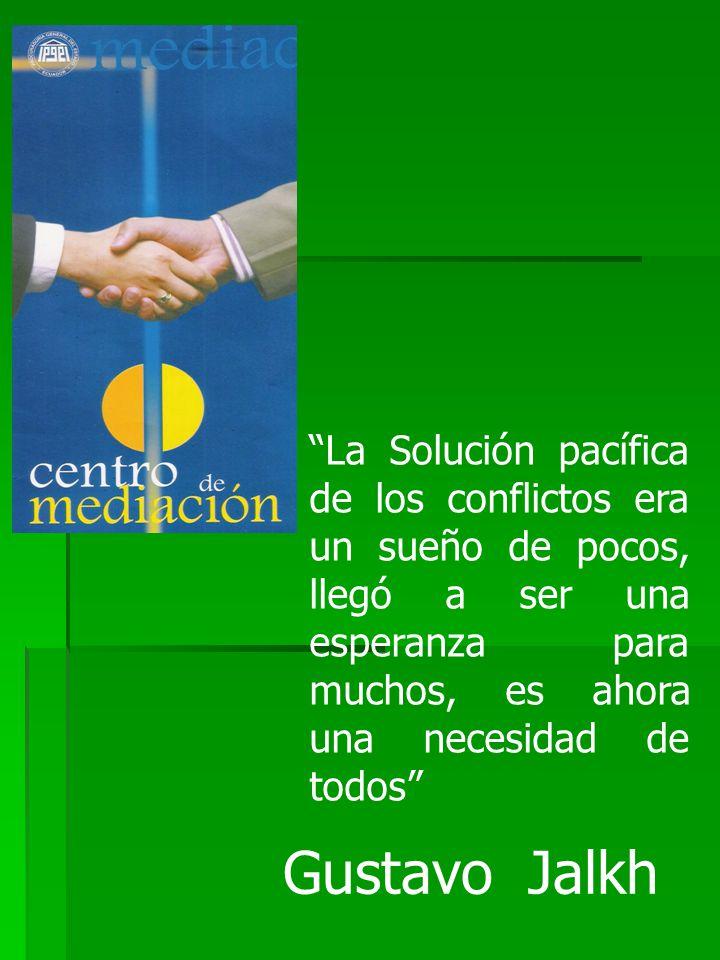 La Solución pacífica de los conflictos era un sueño de pocos, llegó a ser una esperanza para muchos, es ahora una necesidad de todos