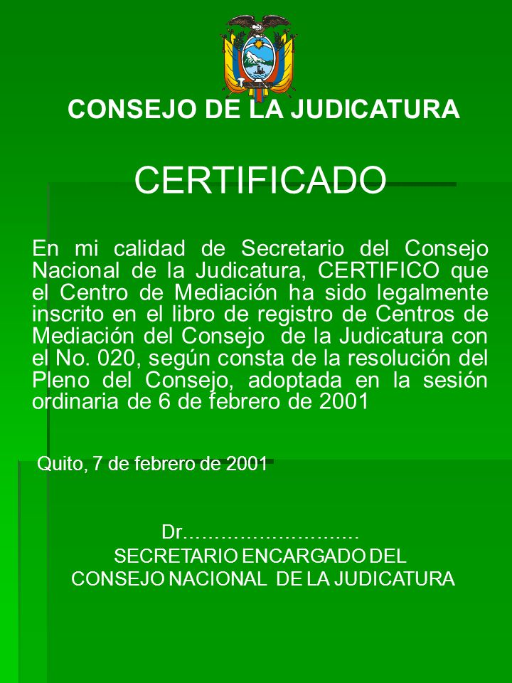 CONSEJO DE LA JUDICATURA