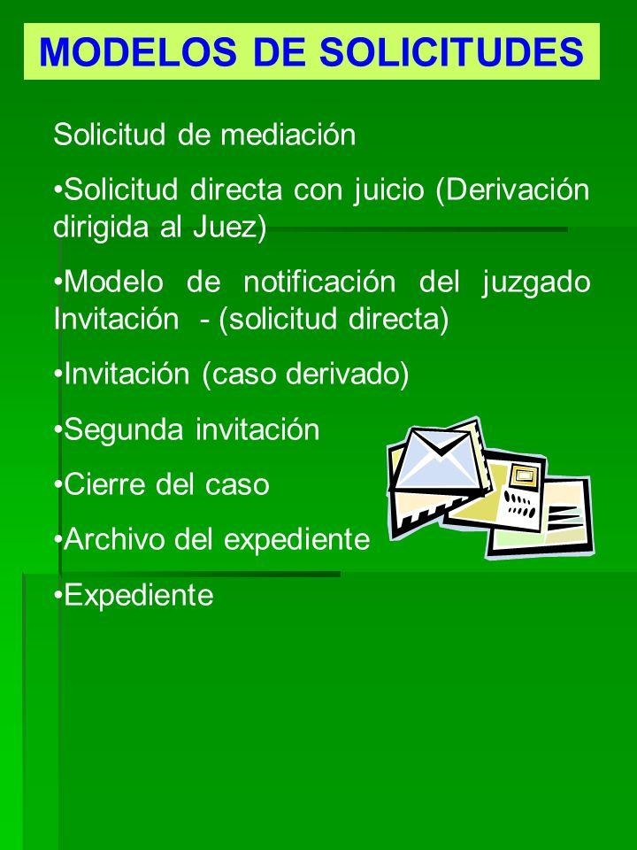 MODELOS DE SOLICITUDES