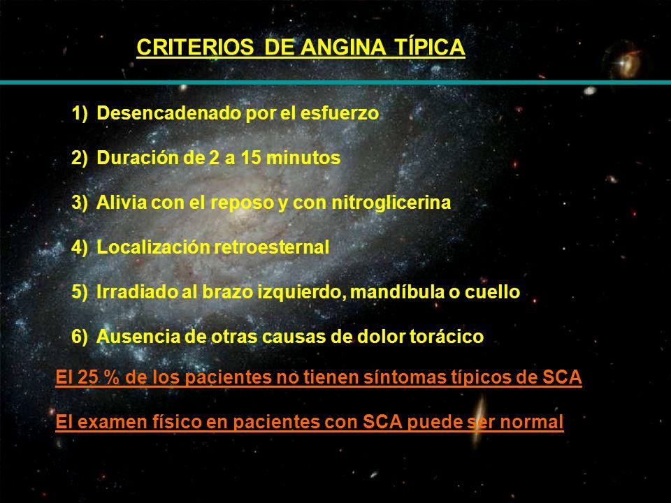 CRITERIOS DE ANGINA TÍPICA