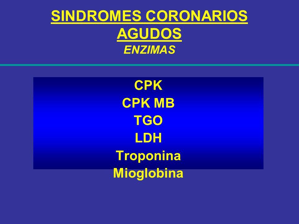 SINDROMES CORONARIOS AGUDOS ENZIMAS