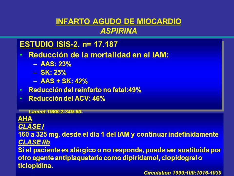 INFARTO AGUDO DE MIOCARDIO ASPIRINA