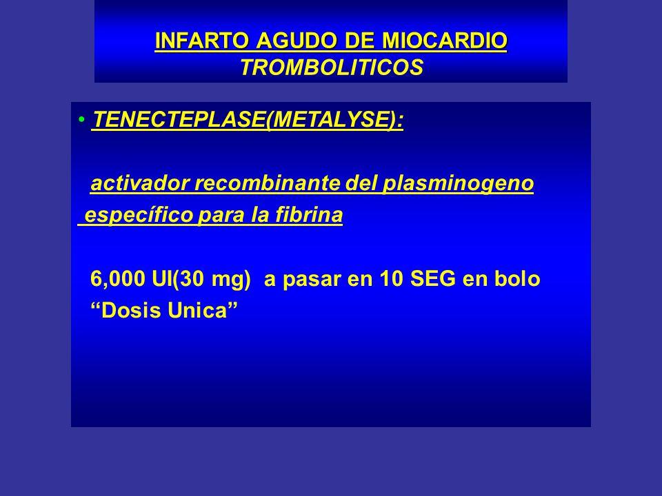 INFARTO AGUDO DE MIOCARDIO TROMBOLITICOS