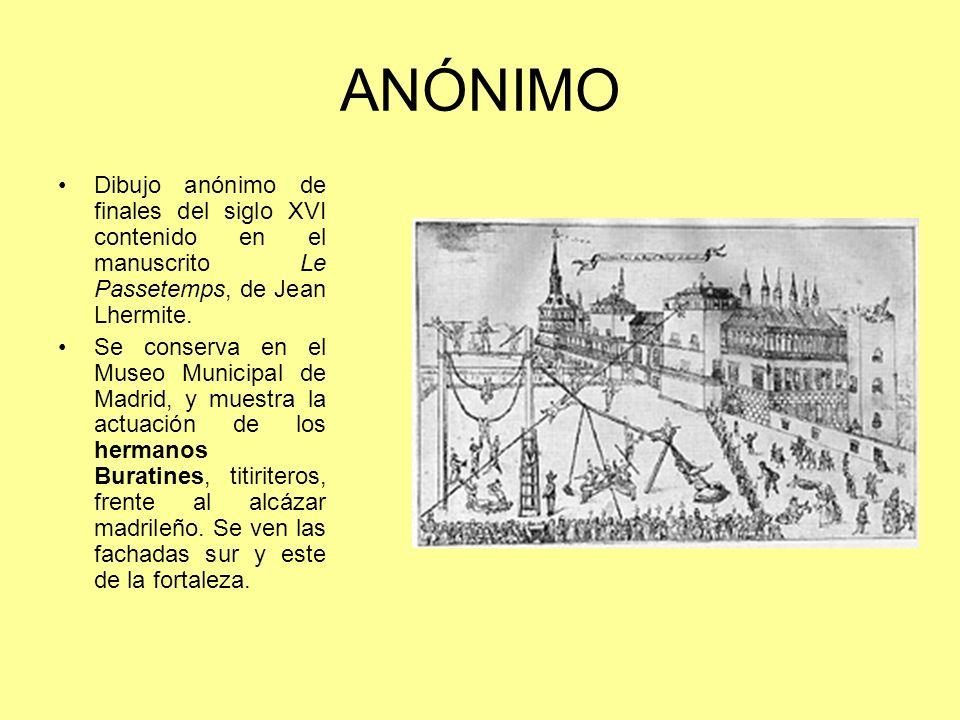 ANÓNIMODibujo anónimo de finales del siglo XVI contenido en el manuscrito Le Passetemps, de Jean Lhermite.