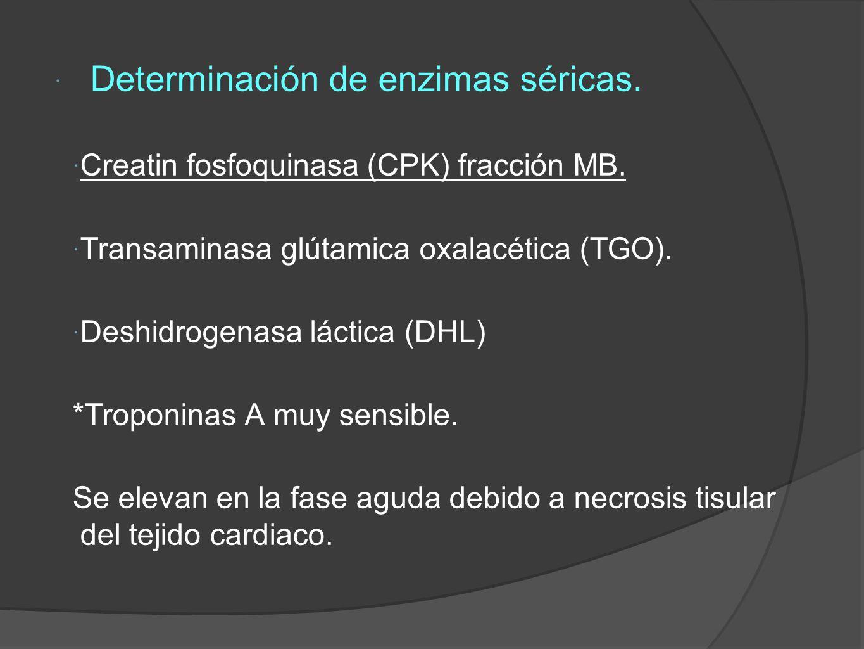 Determinación de enzimas séricas.