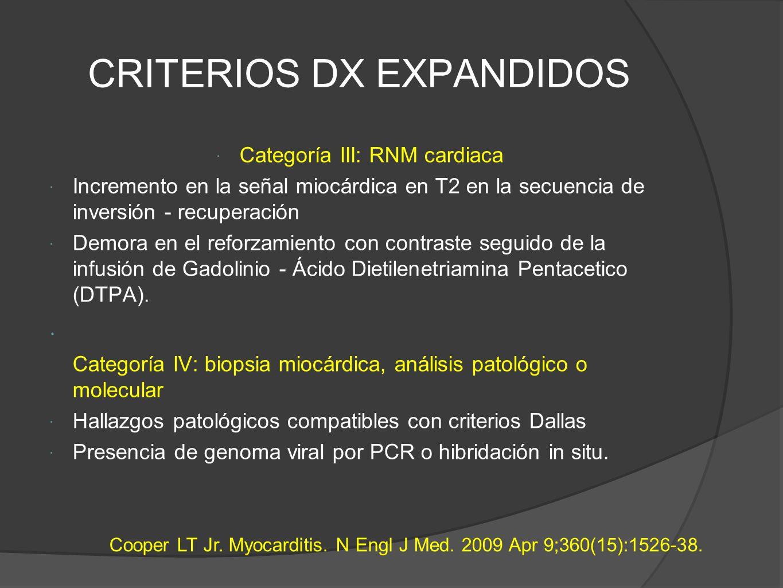 CRITERIOS DX EXPANDIDOS