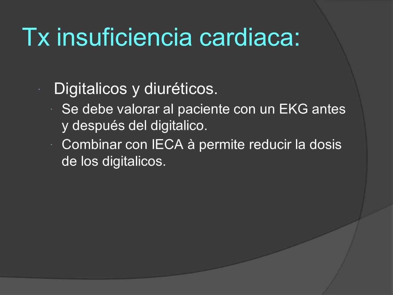 Tx insuficiencia cardiaca: