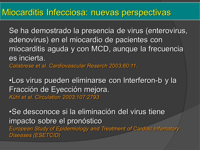 Miocarditis Infecciosa: nuevas perspectivas