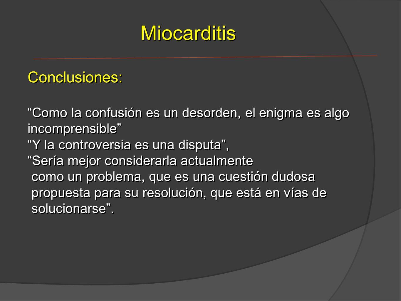 Miocarditis Conclusiones: