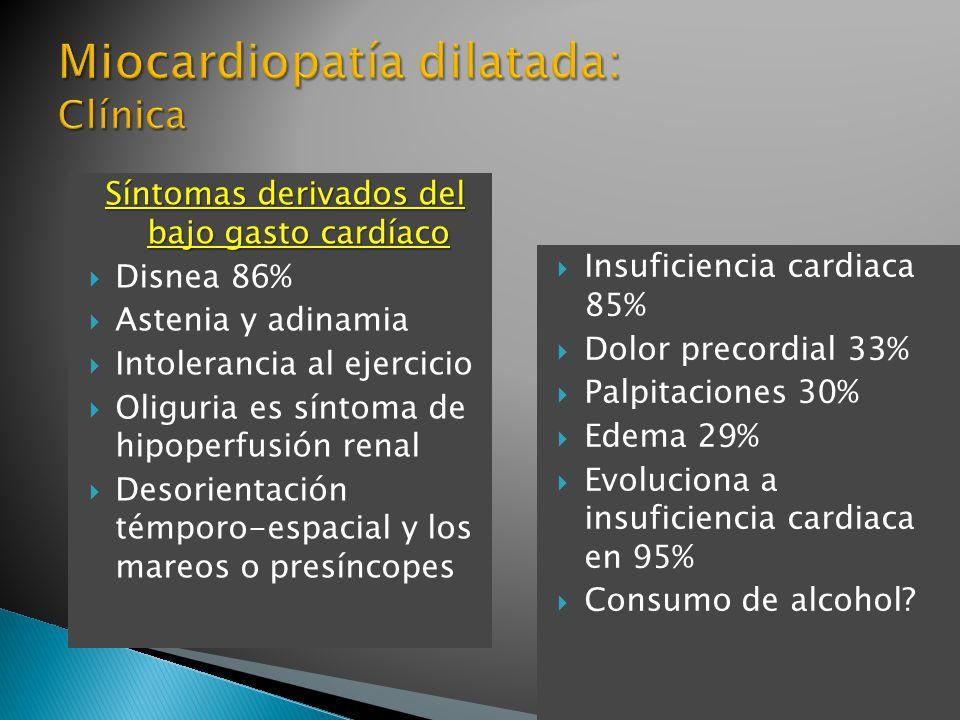 Miocardiopatía dilatada: Clínica
