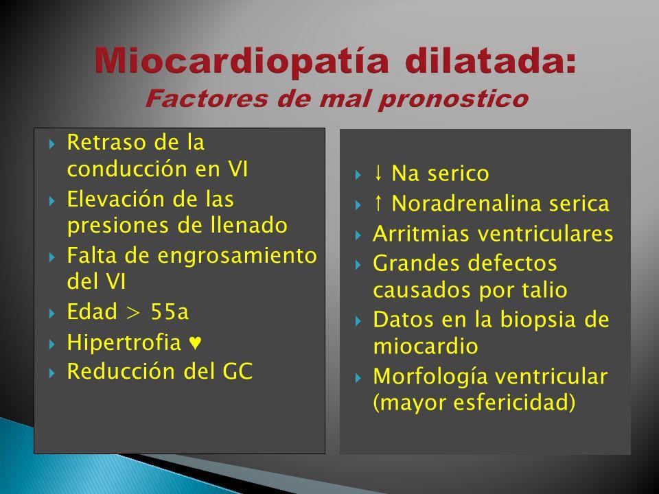 Miocardiopatía dilatada: Factores de mal pronostico