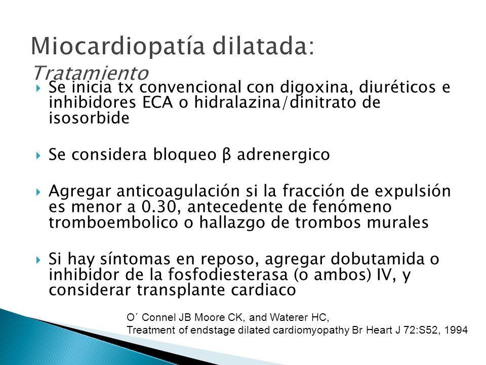 Miocardiopatía dilatada: Tratamiento