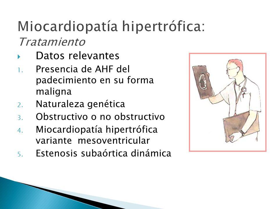 Miocardiopatía hipertrófica: Tratamiento