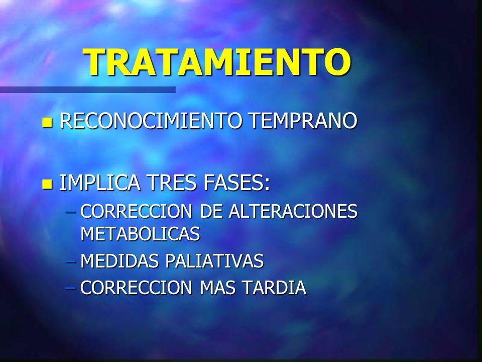 TRATAMIENTO RECONOCIMIENTO TEMPRANO IMPLICA TRES FASES: