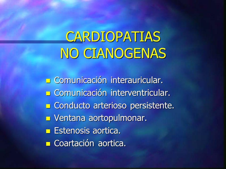 CARDIOPATIAS NO CIANOGENAS