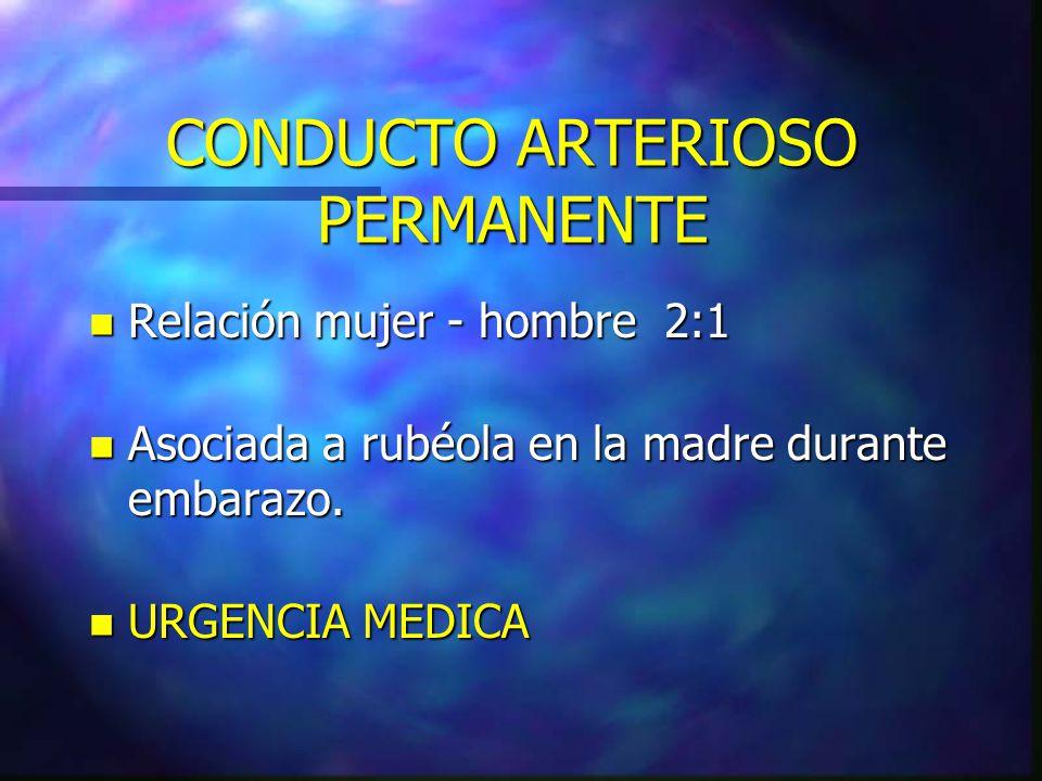 CONDUCTO ARTERIOSO PERMANENTE
