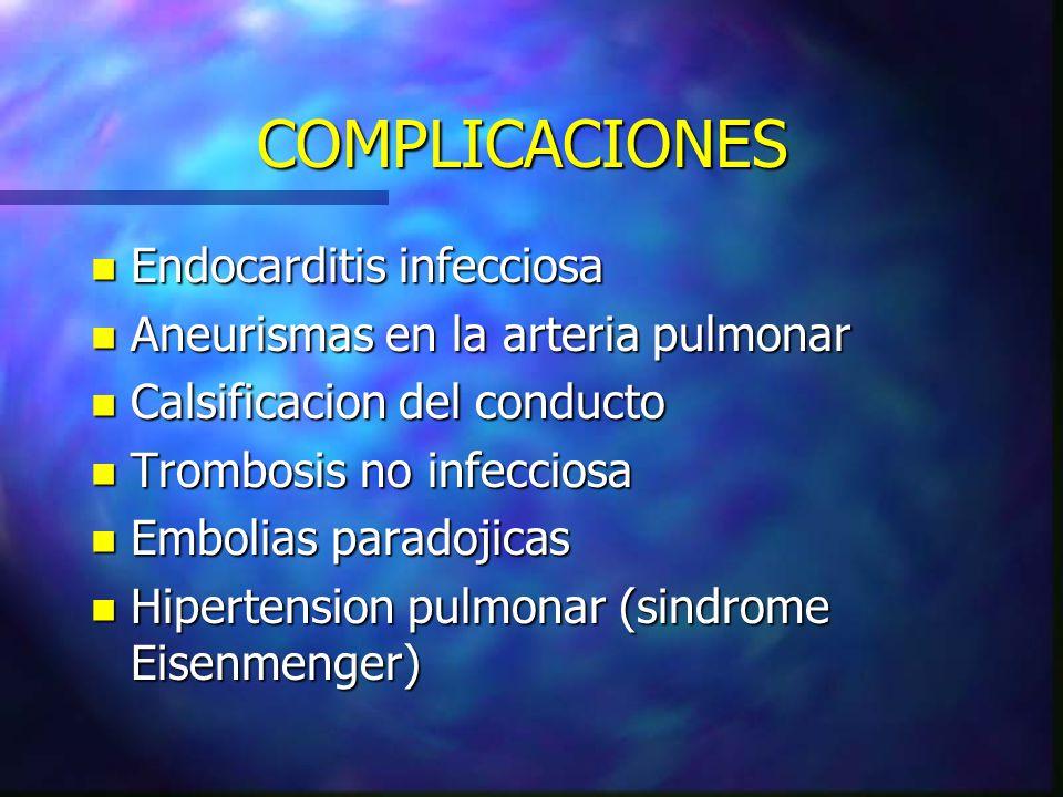 COMPLICACIONES Endocarditis infecciosa