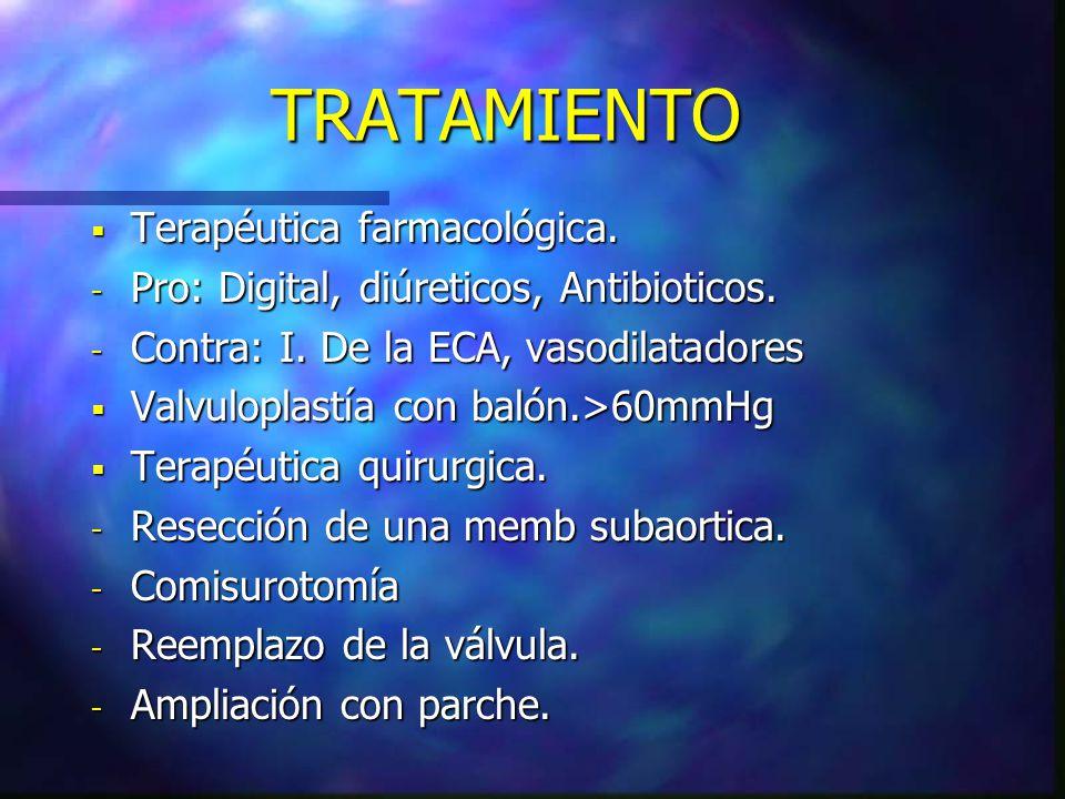TRATAMIENTO Terapéutica farmacológica.