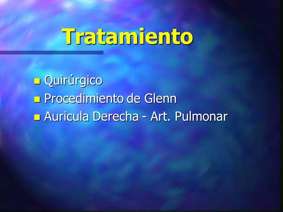 Tratamiento Quirúrgico Procedimiento de Glenn
