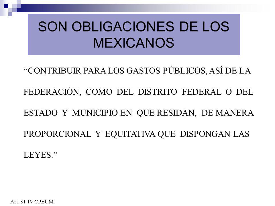 SON OBLIGACIONES DE LOS MEXICANOS