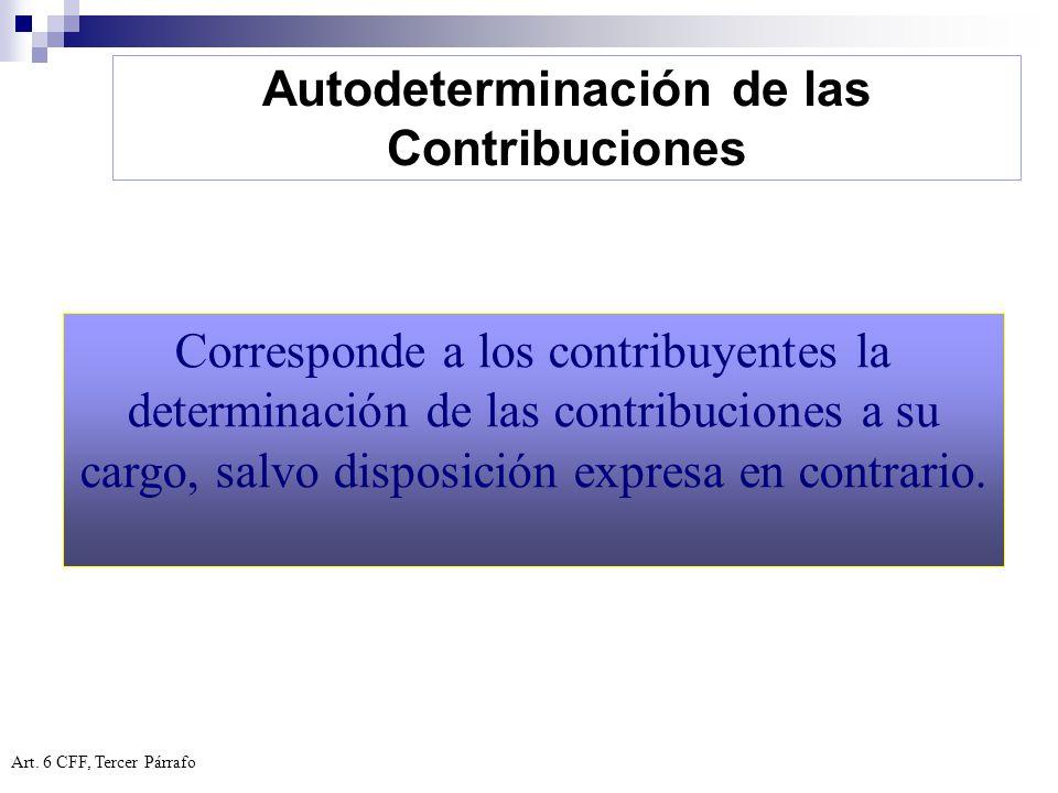 Autodeterminación de las Contribuciones