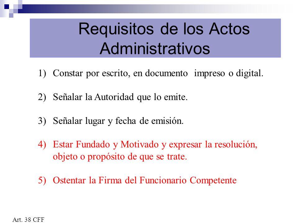 Requisitos de los Actos Administrativos