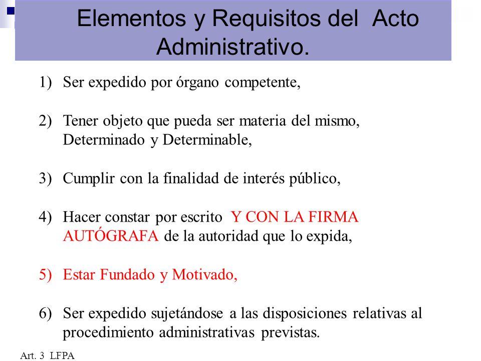 Elementos y Requisitos del Acto Administrativo.