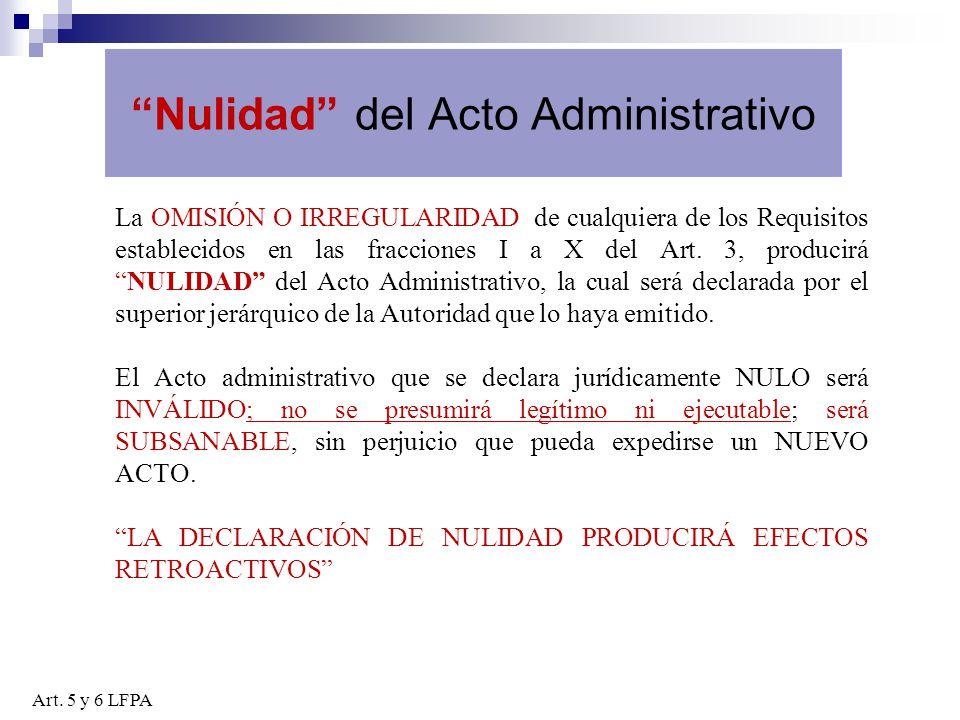 Nulidad del Acto Administrativo