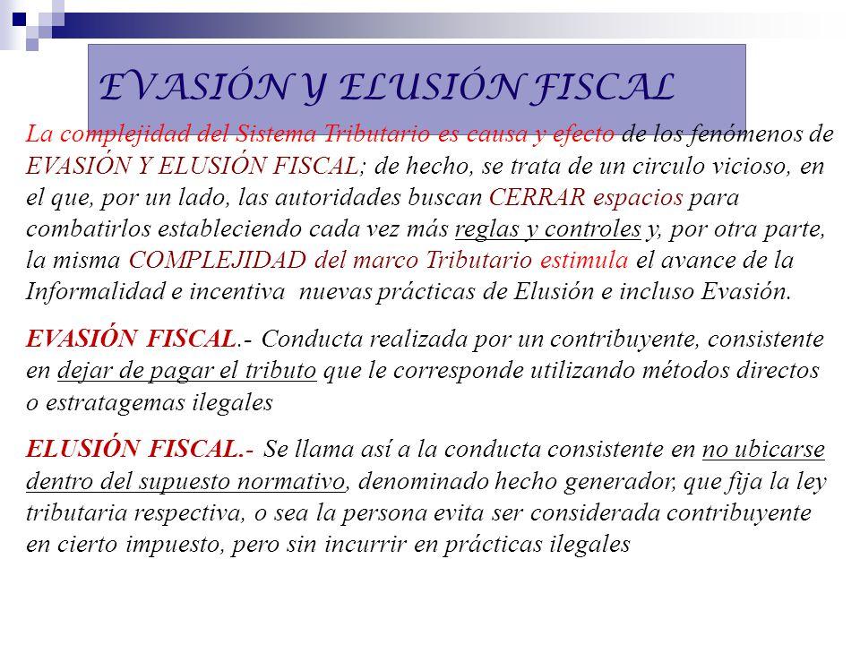 EVASIÓN Y ELUSIÓN FISCAL