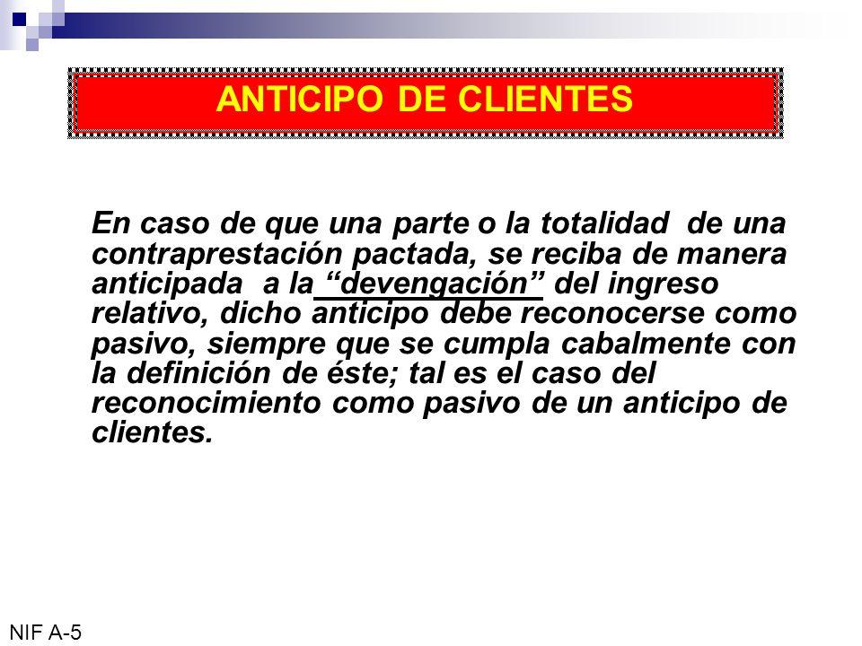 ANTICIPO DE CLIENTES