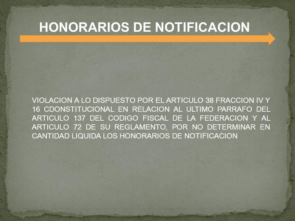 HONORARIOS DE NOTIFICACION