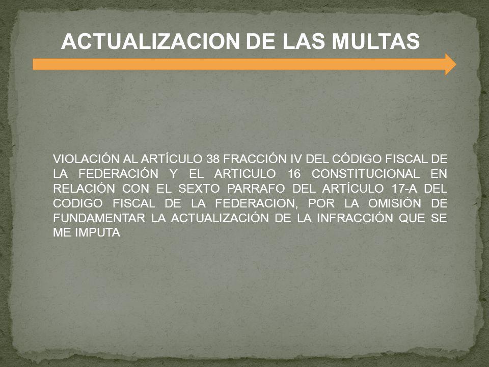 ACTUALIZACION DE LAS MULTAS