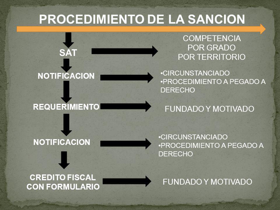 PROCEDIMIENTO DE LA SANCION
