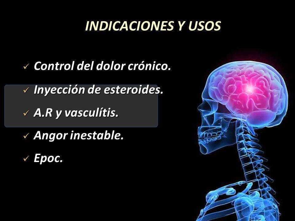 INDICACIONES Y USOS Control del dolor crónico.