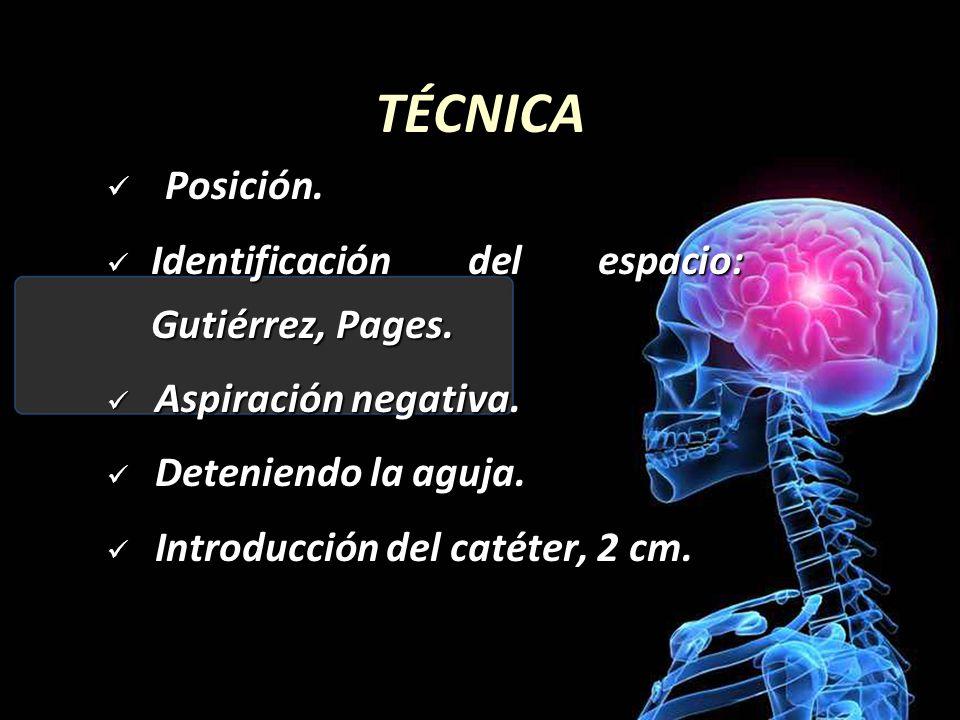 TÉCNICA Posición. Identificación del espacio: Gutiérrez, Pages.