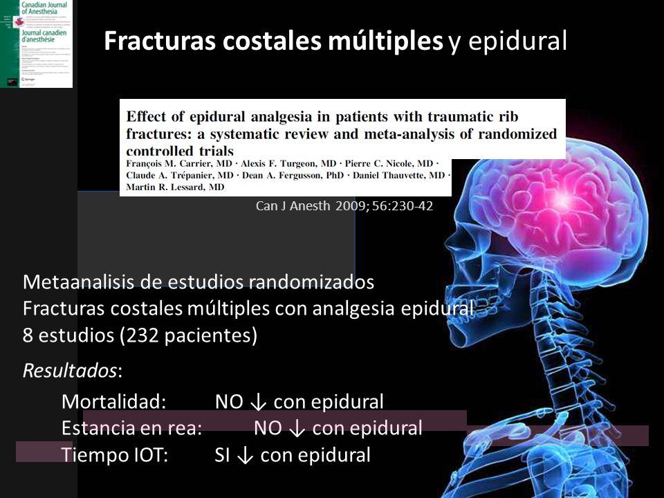 Fracturas costales múltiples y epidural