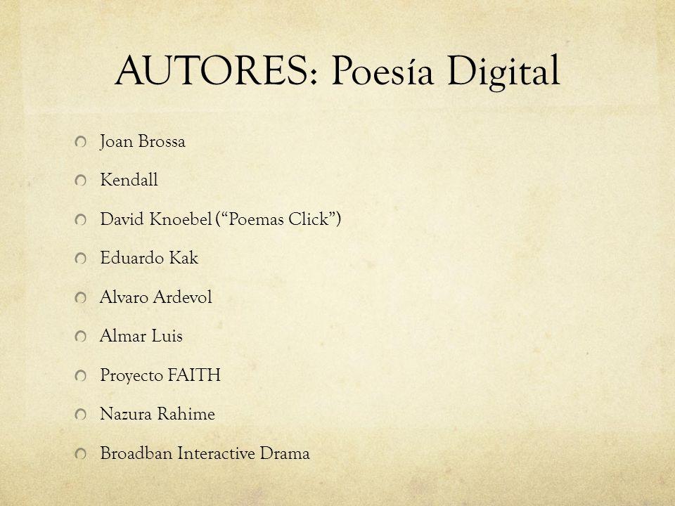 AUTORES: Poesía Digital
