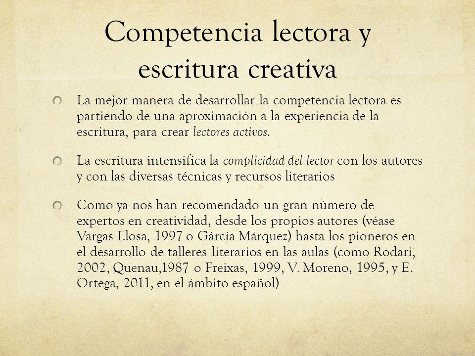 Competencia lectora y escritura creativa