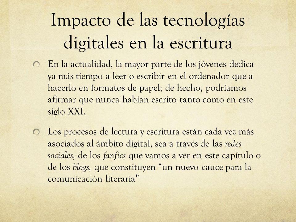 Impacto de las tecnologías digitales en la escritura