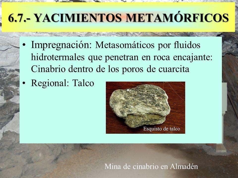 6.7.- YACIMIENTOS METAMÓRFICOS