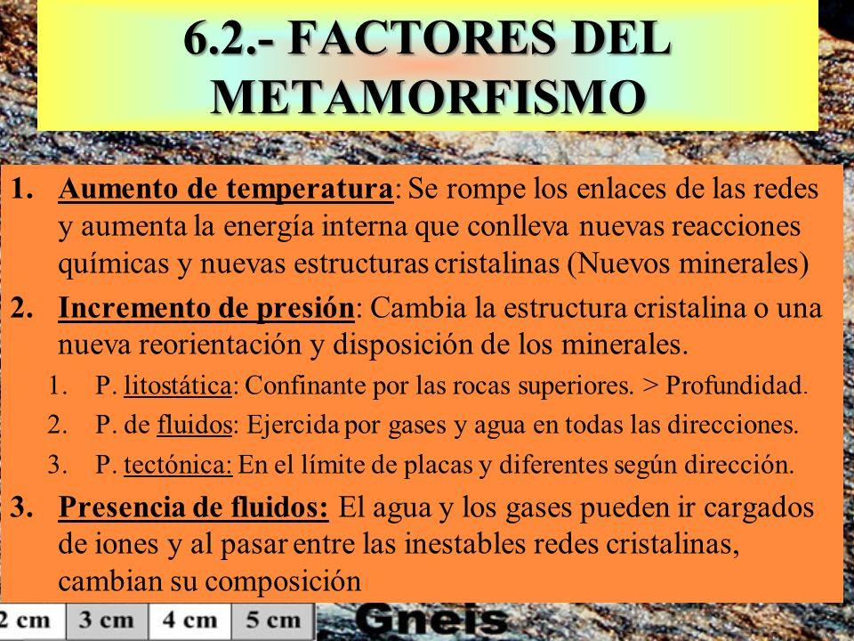 6.2.- FACTORES DEL METAMORFISMO