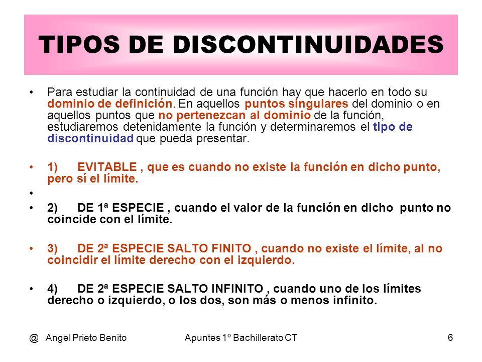 TIPOS DE DISCONTINUIDADES