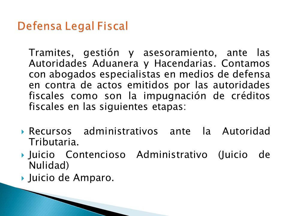 Defensa Legal Fiscal
