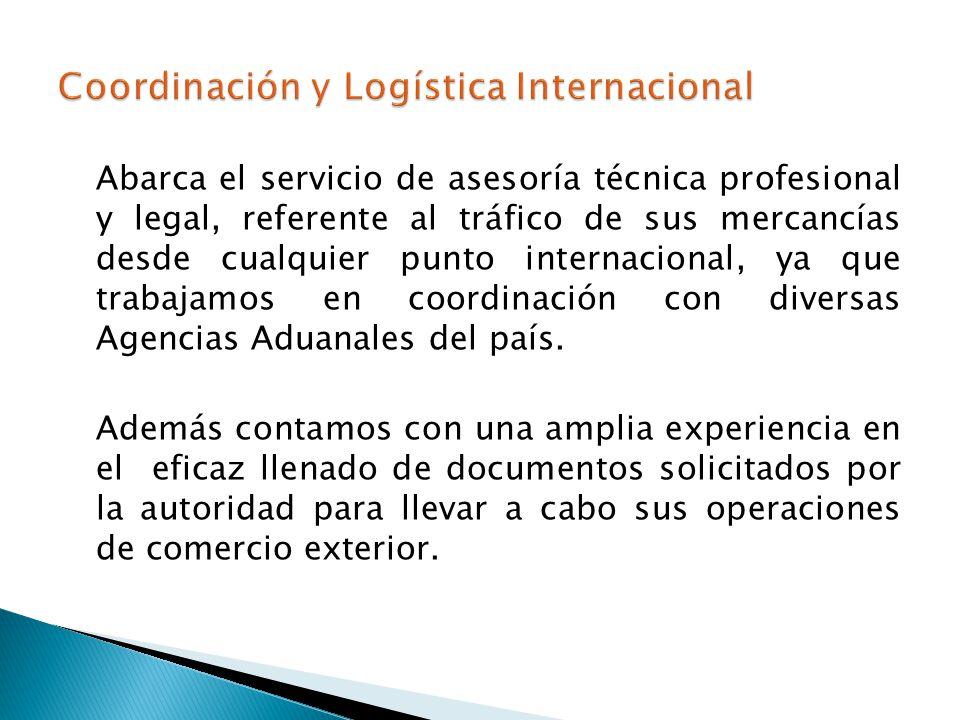 Coordinación y Logística Internacional