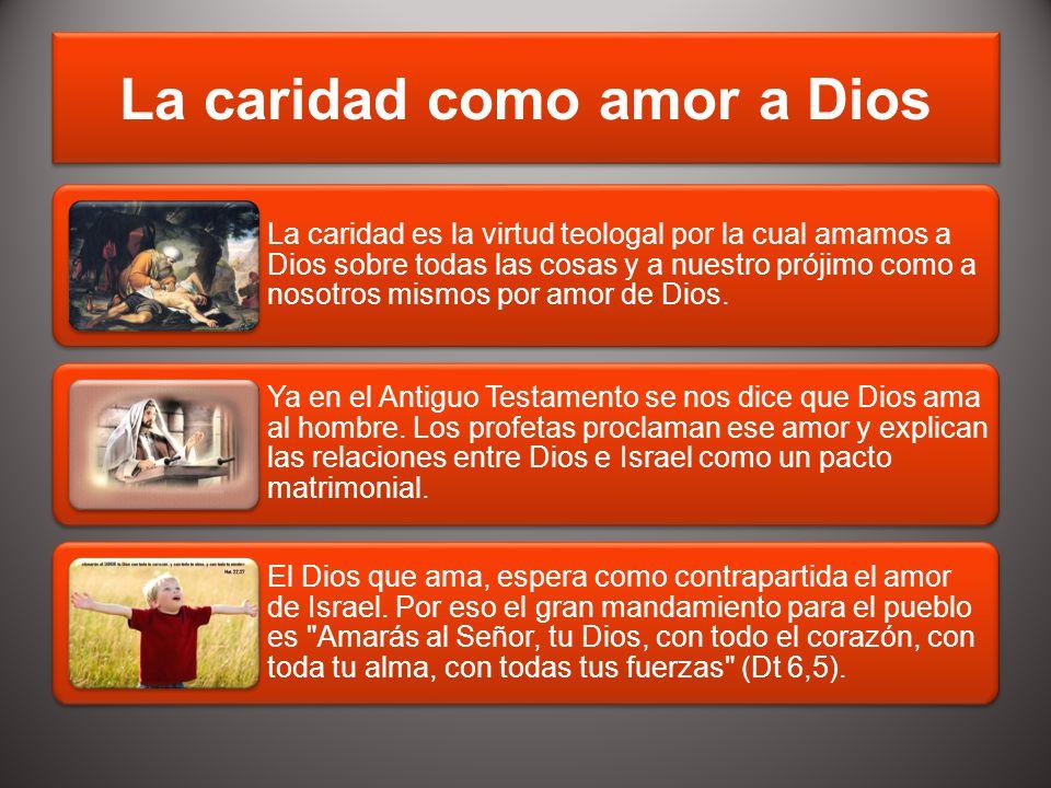 La caridad como amor a Dios