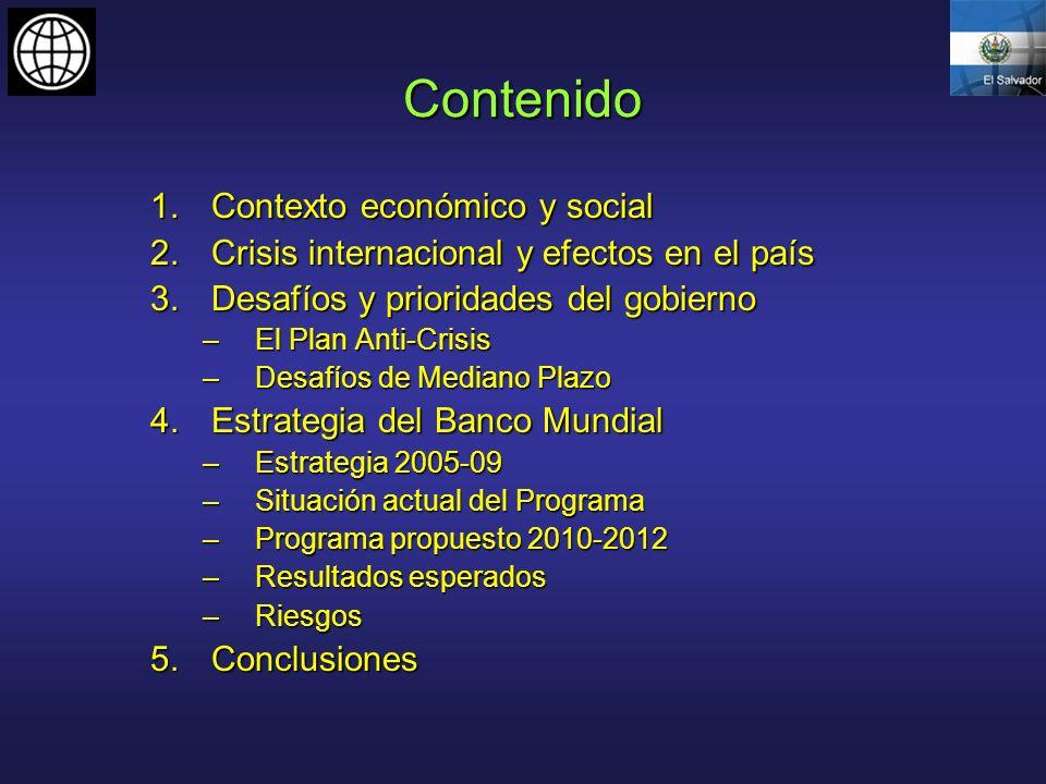 Contenido Contexto económico y social