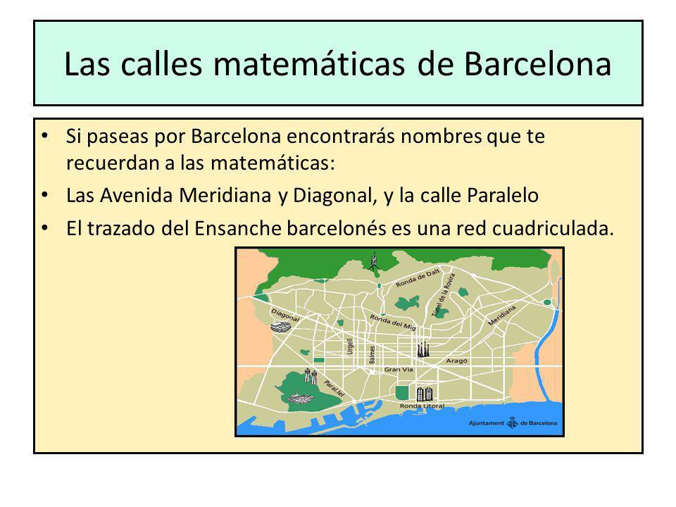 Las calles matemáticas de Barcelona