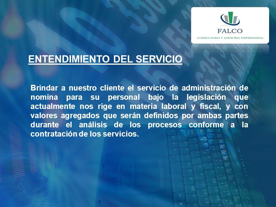 ENTENDIMIENTO DEL SERVICIO